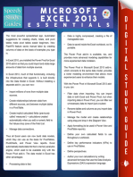 Microsoft Excel 2013 Essentials (Speedy Study Guides)