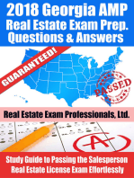 2018 Georgia AMP Real Estate Exam Prep Questions and Answers