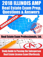 2018 Illinois AMP Real Estate Exam Prep Questions and Answers