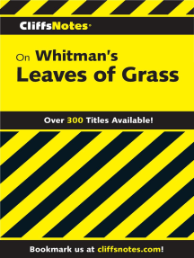 CliffsNotes on Whitman's Leaves of Grass