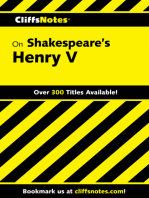 CliffsNotes on Shakespeare's Henry V