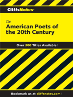 CliffsNotes on American Poets of the 20th Century