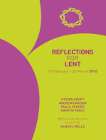 Reflections for Lent 2016