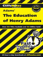 CliffsNotes on Adams' The Education of Henry Adams