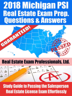 2018 Michigan PSI Real Estate Exam Prep Questions and Answers