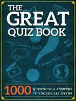 The Great Quiz Book: 1000 Questions and Answers to Engage All Minds