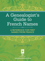 A Genealogist's Guide to French Names
