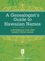 A Genealogist's Guide to Hawaiian Names