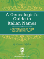 A Genealogist's Guide to Italian Names