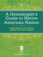 A Genealogist's Guide to Native American Names