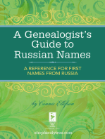 A Genealogist's Guide to Russian Names