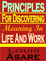 Principles For Discovering Meaning In Life And Work