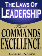 The Laws Of Leadership That Commands Excellence