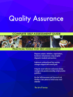Quality Assurance Complete Self-Assessment Guide
