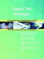 Expert Test Manager Complete Self-Assessment Guide