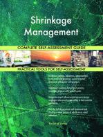 Shrinkage Management Complete Self-Assessment Guide