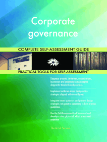 Corporate governance Complete Self-Assessment Guide