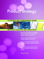 Product strategy Complete Self-Assessment Guide