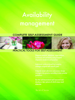 Availability management Complete Self-Assessment Guide