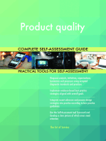 Product quality Complete Self-Assessment Guide