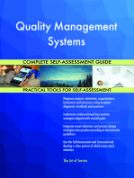 Quality Management Systems Complete Self-Assessment Guide