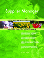 Supplier Manager Complete Self-Assessment Guide