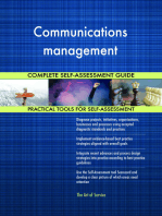 Communications management Complete Self-Assessment Guide