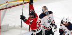 Bounces, and Passes, Go Blackhawks' Way in Win Over Oilers