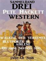 Drei Pete Hackett Western Januar 2018