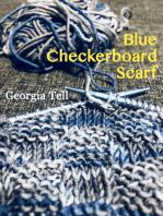 Blue Checkerboard Scarf