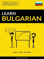 Learn Bulgarian