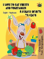 I Love to Eat Fruits and Vegetables (English Ukrainian Kids Book)