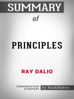Summary of Principles by Ray Dalio | Conversation Starters