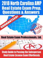 2018 North Carolina AMP Real Estate Exam Prep Questions, Answers & Explanations