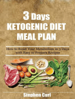 3 Days Ketogenic Diet Meal Plan