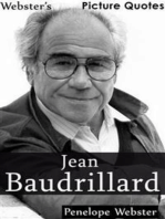 Webster's Jean Baudrillard Picture Quotes