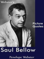 Webster's Saul Bellow Picture Quotes