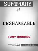 Summary of Unshakeable by Tony Robbins | Conversation Starters