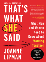 That's What She Said: What Men Need to Know (and Women Need to Tell Them) About Working Together