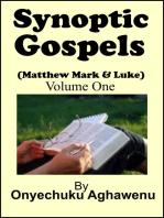 Synoptic Gospels (Matthew Mark & Luke) Volume One