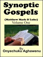 Synoptic Gospels (Matthew Mark & Luke) Volume One