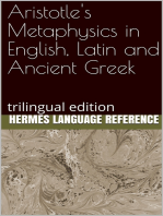 Aristotle's Metaphysics in English, Latin and Ancient Greek
