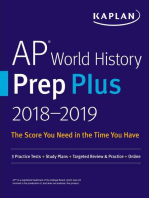 AP World History Prep Plus 2018-2019: 3 Practice Tests + Study Plans + Targeted Review & Practice + Online