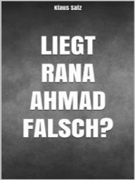 Liegt Rana Ahmad falsch?