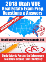 2018 Utah VUE Real Estate Exam Prep Questions and Answers