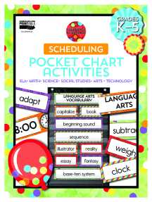 Celebrate Learning Scheduling Pocket Chart Activities