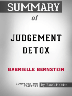 Summary of Judgement Detox by Gabrielle Bernstein | Conversation Starters