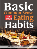 Basic Common Sense of Your Eating Habits