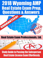 2018 Wyoming AMP Real Estate Exam Prep Questions and Answers