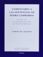 Comentario a las sentencias de Pedro Lombardo III/1